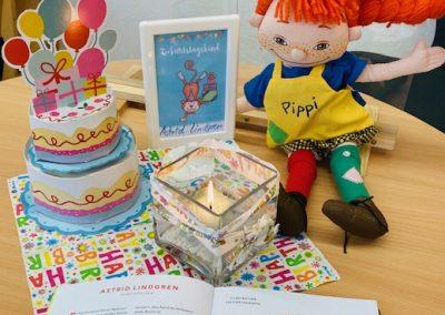 Geburtstagstisch für Astrid Lindgren